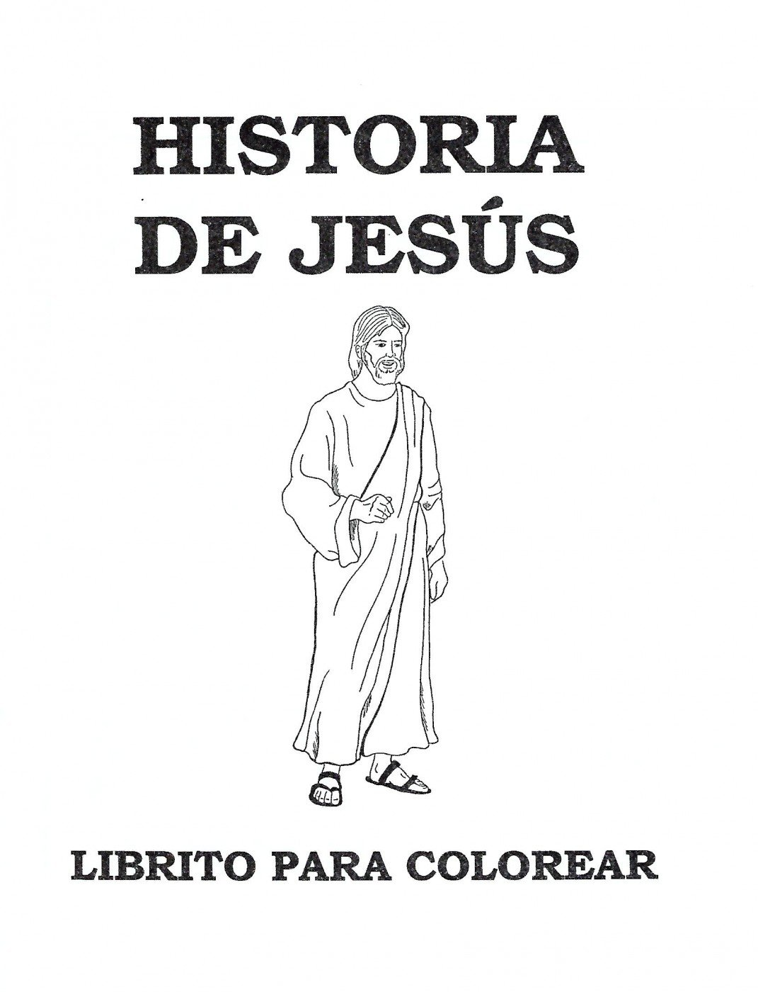 Historia de Jesús -libro para colorear (The Story of Jesus -coloring ...