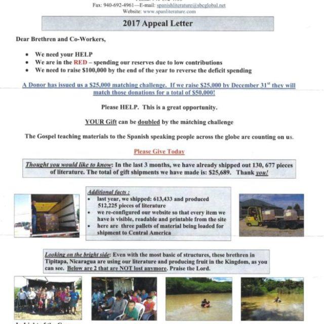 2017 Appeal Letter